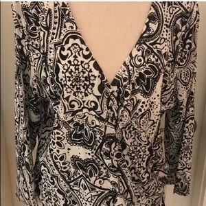 🌟5/$25🌟 Coldwater Creek Faux Wrap Blouse Size 1X